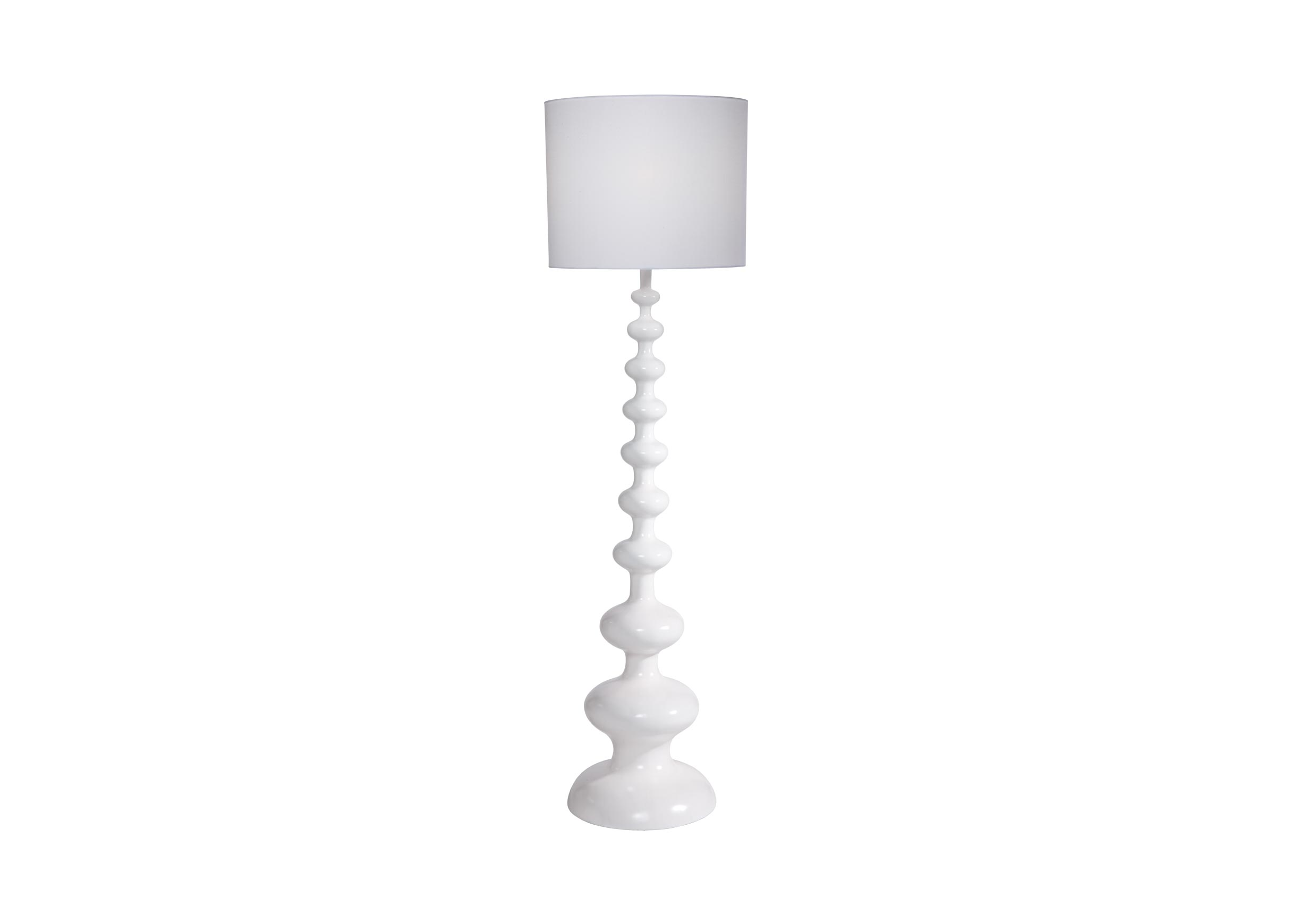 Modern spindle floor lamp snow white gloss floor lamp ethan allen images modern spindle floor lamp snow largegray mozeypictures Choice Image
