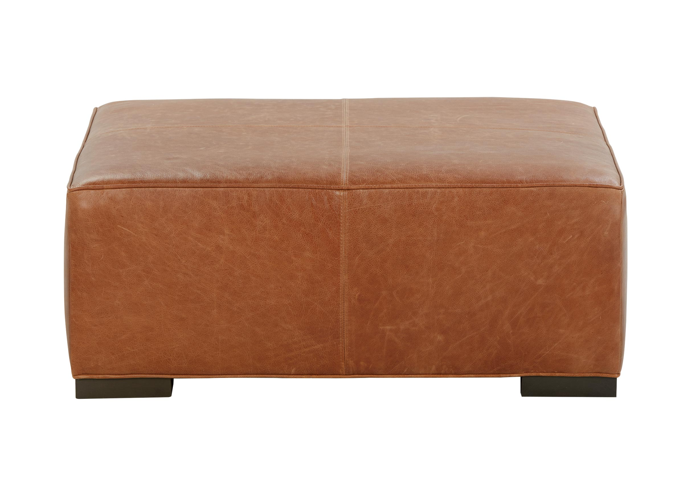 shalimar cocoa spectra home leather products w tufted lucerne cocktail ottoman